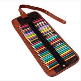 2019 caixa do rolo do lápis da lona Moda Pintura Lápis Caso Escola Escritório Papelaria Portátil Lona Caneta Roll Up Bag Cortina Lápis Caso caixa do rolo do lápis da lona barato