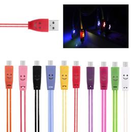 1 M / 3FT Görünür Aydınlık LED Işık up Mikro USB şarj data sync kablosu Samsung Android cep telefonu için hızlı şarj flaş kordon cheap cell phone charging cord led nereden cep telefonu şarj kablosu led tedarikçiler