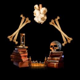 Set di biancheria da letto king online-Camera da letto unica set 3D zucchero cranio aglio libri candela luce stampa set di biancheria da letto king size crossbones copripiumino set tessili per la casa