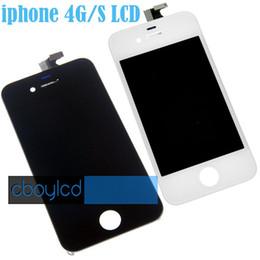 """All'ingrosso Per Black Grade A +++ LCD 5S 5C 5 SE 4S 4 Display LCD Touch Digitizer Sostituzione schermo completo per iPhone 6 4.7 """"iPhone 6 Plus da telefono mobile di zte all'ingrosso fornitori"""