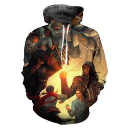 assassin s creed clothing Coupons - New 2019 Fashion Sweatshirt Men Assassins Creed Novelty Streetwear Hooded Casual Pullover Game 3D Print Hoodies Clothing