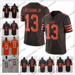 d54e1a01 Browns Odell Beckham Jr Jerseys 13 OBJ Brown Rush Cleveland 6 Baker  Mayfield Denzel Ward Chubb Landry White Orange Men Youth Women Kid