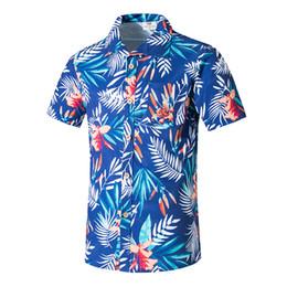 Mens plage hawaïenne chemise été tropicale à manches courtes chemise hommes marque vêtements casual lâche sports nautiques chemises plus la taille 5XL ? partir de fabricateur