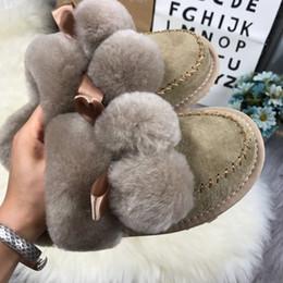 2019 zapatillas de casa moradas Diseñador de lujo rojo Negro Gris Rosa Púrpura piel de las ovejas Marca sandalias de las mujeres calientes de las zapatillas de casa las chancletas de rebajas zapatillas de casa moradas