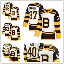 2019 Winter Classic Boston Bruins Hockey 88 David Pastrnak 33 Zdeno Chara 63  Brad Marchand 37 Patrice Bergeron 40 Tuukka Rask Jerseys 0e7e922b9