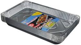 Padella in alluminio a flusso profondo, sicura per l'uso in riso al forno con pesce arrosto da usa e getta bento all'ingrosso fornitori