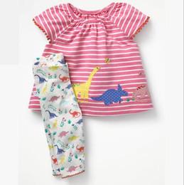 Bebek çocuk giyim iki parçalı setleri Bahar Yaz Saf Pamuk suit Şerit seti Toptan cheap baby clothes wholesale stripes nereden bebek kıyafetleri toptan şeritler tedarikçiler