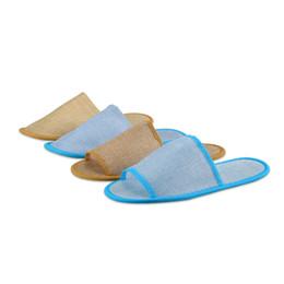 Zapatillas de lino online-Ocho zapatillas simples desechables diferentes zapatillas especiales de hotel zapatillas de color puro zapatillas transpirables de lino T3I5159