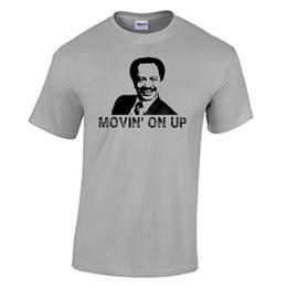 Camisetas george online-Camiseta de George Jefferson, Moving Up Up The Jeffersons Camiseta Retro Old School TVFunny envío gratis Unisex Camiseta Casual