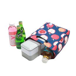 organizador de picnic Rebajas Moda Portátil Bolsa de Almuerzo Mujeres Con Aislamiento Térmico Picnic Refrigerador Caja de Viaje Bebida Fresca Mantener Bento Organizador Accesorios