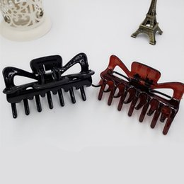 pince à cheveux Promotion 1 PC 11 cm Grand Cheveux Pinces Claw Clip Dame Femme Casual Grand Barrette Crab Femmes Épingles À Cheveux Jaw Clamp Cheveux Accessoires Nouveau