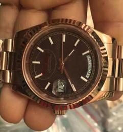 relógios de ouro para homens Desconto Dia Data Rose Gold Case marrom Dial Mulheres Relógios Homens AAA DayDate Presidente Automático Designer Relógios Roma Relógio de Pulso Relógio de Pulso