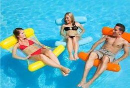 Flotteurs de piscine en Ligne-Chaise longue pliante pour l'eau Tapis flottant Chaise longue pour l'eau Hamac Piscine Flotteur Radeaux gonflables Chaise flottante légère Air Portable