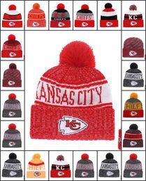 53e1e427f4b Wholesale Kansas City Sport Winter Hats Chiefs Stitched Team Logo Brand  Warm Men Women Hot Sale Knitted Caps Cheap Mixed Beanies