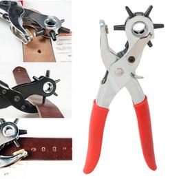 Ceinture des m/énages perforatrice Outil pour Les Trous de Leathercraft en Cuir Poin/çonneuse 3-en-1 en Cuir Pinces Main