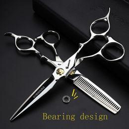 2019 set di forbici kasho acciaio parrucchiere 440c professionali del barbiere Scissors l'insieme di capelli di alta qualità del salone 6 pollici makasMX190925