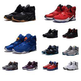 Canada Chaussure de basketball pas cher New Men Lebron 13 XIII Bleu Noir Or Gymnase Red Galaxy Marron Gris Blanc James 23 baskets aériens à vendre Offre