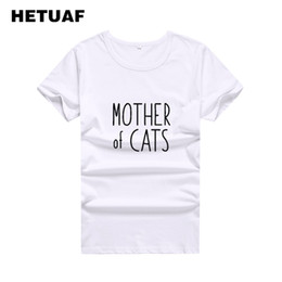 dbcaf041 Women's Tee Hetuaf Mother Of Cats Funny T Shirts Women 2019 Fashion Kawaii  Black White Woman Tshirt Top Ulzzang Hippie Camiseta Feminina