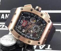 Relógio de luxo para homens de borracha on-line-Luxo Top Marca Rose Gold Inox Tonneau Data de Moda Mens Esqueleto Mecânico Relógio de Borracha Data Homens Movimento Automático relógio de Pulso