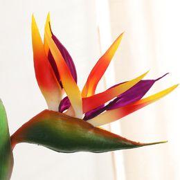 2019 decorazione candela rossa piante artificiali 80cm decorativi uccelli artificiali paradiso uccello strelitzia reginae mini fiori hawaiian rifornimenti del partito freeshipping