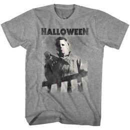 mens knifes Promo Codes - Halloween Horror Movie Michael Myers Bloody Knife Men's T Shirt Evil Villain womens and mens pride dark t-shirt