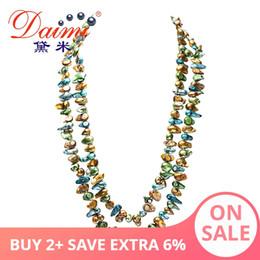 2019 colliers de perles roses Daimi Gaga offres Pink / Bleu Multi Color Collier de perles 120cm Collier long maxi pull chaîne pour les femmes cadeaux de Noël