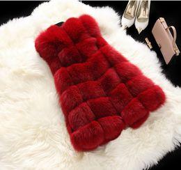 2020 искусственный мех жилет бесплатная доставка 2018 New Faux Fur Long Vest Luxury Fur Vest For Women Free Shipping DFP365 дешево искусственный мех жилет бесплатная доставка