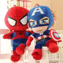 Superhelden plüschtiere online-27-30cm Rächerplüsch-Puppenspielzeug Spiderman spielt Superheld-Rächer Bündnis-Wunder die Version der Rächerpuppen 2Q Freies Verschiffen