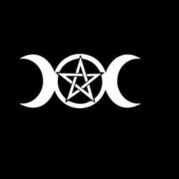 2019 rocher mort reconnaissant Autocollant mural sticker sticker triple déesse Pentagramme Rock n Roll Hippie mort reconnaissant rocher mort reconnaissant pas cher