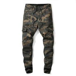 Nove minuti pantaloni online-New 2019 Camouflage pantaloni tuta caduta piedi fascio piede pantaloni ginocchio nero pantaloni harlan sciolti nove minuti di pantaloni, 082