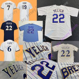 Christian Yelich Jersey All Stitched Lorenzo Cain Josh Hader Orlando Arcia  Jonathan Villar Eric Thames Jerseys Milwaukee Men Women Youth 6a27ed00f