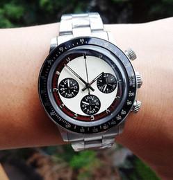 японские часы марки Скидка Роскошный мужской хронограф Vintage Perpetual Paul Newman Японский кварц из нержавеющей стали Meless Steel Модный бренд мужские часы
