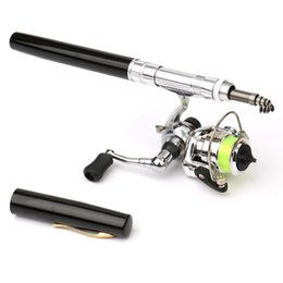 2020 Pocket Mini Fishing Rod Fishing Pole Pen Shape Folded Rod With Metal Spinning Reel Wheel Accessories From Bdsports, $15 | DHgate.Com