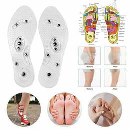 Terapia magnética Palmilhas de Silicone Massagem nos Pés Transparente Perda de Peso Emagrecimento Palmilha Cuidados de Saúde Almofada de Sapatos Sola Atacado Dropshipping cheap health shoe pads de Fornecedores de calçados de saúde