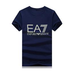 Venta al por mayor Nueva marca de diseño de lujo con cuello redondo camiseta Verano Nuevos hombres Mujeres High Street Polo para hombre Camiseta Casual 8 colores desde fabricantes
