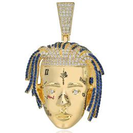 collane magnetiche catena di serpente Sconti Hip Hop Rapper XXXTentacion Collana con ciondolo Uomo Iced Out CZ Catene Punk Argento Colore Charms Gioielli Regali