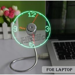 вентилятор xiaomi usb Скидка Cheapest 100pcs USB LED Fan Clock Display Flashing Time USB Clock Fan For PC Notebook Power Bank Charger With ith Clock USB Gadgets