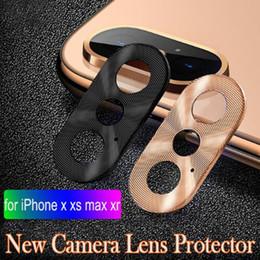 Protecteur d'appareil photo pour iphone en Ligne-Cercle de la caméra de luxe Cercle du téléphone intelligent arrière en métal de la caméra arrière de l'objectif de la couverture de l'anneau de protection de pare-chocs pour iphone X / XR / XS / XS Max