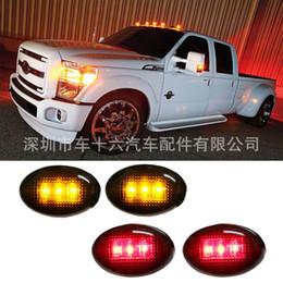кроватки с красным светом Скидка Ford F350 F-Series 4PC LED Fender кровать боковые габаритные огни копченый объектив (янтарно-красный)