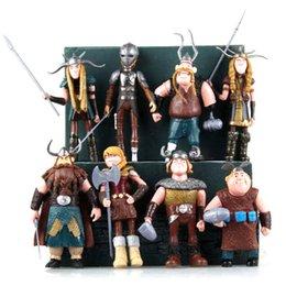 Jeux de poupées en Ligne-8pcs / set Comment former votre poupée en plastique Dragon jouets 10-13cm jeu de bande dessinée figurines nouveautés articles CCA11352 6set jouets pour enfants