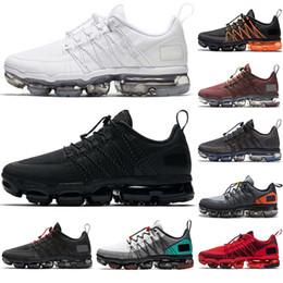 2019 sports de sport Nike Air Vapormax Run Utility mens designer sheos Run Utility Chaussures de course hommes formateurs triple noir blanc sports de sport pas cher
