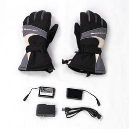 Перчатки с подогревом онлайн-Теплое пространство с подогревом перчатки 2x 3600MAH электрические теплые перчатки отопление тепловой водонепроницаемый зима женщины мужчины Бесплатная доставка