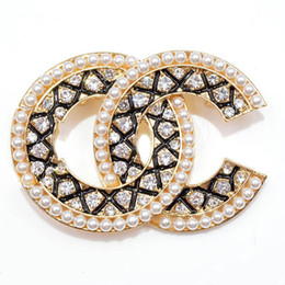3352a3eff Unisex coat brooches online shopping - rhinestone brooches for women letter  fashion pins coat suit party