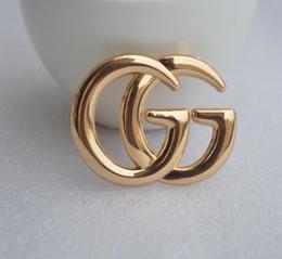 Designer de luxo Requintado Dupla Letra G Broche Para As Mulheres Declaração de Moda Marca Broches Pinos Acessórios Presente Da Jóia de