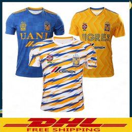 101e87473 DHL Free shipping 2018 2019 Tigres UANL SOCCER JERSEY 18 19 Tigres UANL FOOTBALL  SHIRTS THAILAND QUALITY CUSTMIZE Size can be mixed batch cheap thailand ...