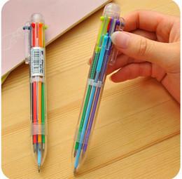 stylo marque parker Promotion Nouveauté Stylo À Bille Multicolore Multifonction 6 In1 Papeterie Créative Fournitures Scolaires GA609