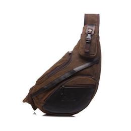 segeltuch-sling-taschen für männer Rabatt Marke neue handbgas männer vintage leinwand männlichen messenger umhängetaschen lässig reise motorrad sling dreieck brust tasche all1022