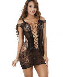 lace slip sleepwear Australia - New Trend Sexy Nightgown Lingerie Fashion  Patchwork Nightdress Women Sheer Scalloped 36564ee4e