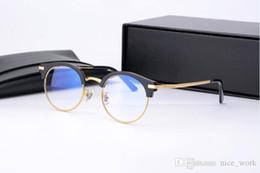 2019 blaue mondbrille Marke Glasses-2017 V blue moon eyewear Brillengestell für Männer Vintage Metall Runde halbe Rahmen Gentle Brand Design Brillen günstig blaue mondbrille