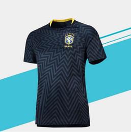 Бразилия 2018 2019 тренировочные футбольные майки мужчины женщины 2018 2019 чемпионат мира по футболу COUTINHO MARCELO FIRMINO P.COUTINHO G.JESUS футболка от
